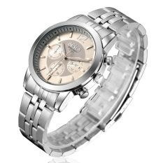 ZUNCLE Men Business Casual Waterproof Stailess Steel Band Wrist Watch (White) (Intl)