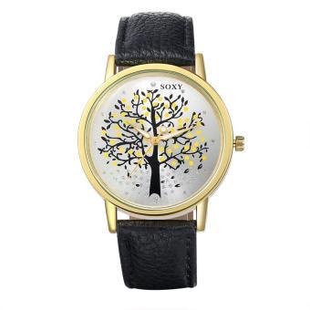 ZUNCLE Men Tree Pattern Quartz Wrist Watch (Black)