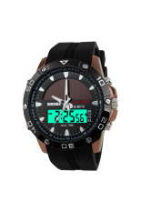 ZUNCLE SKMEI Male Waterproof Outdoor Sports Solar Watch (Coffee)
