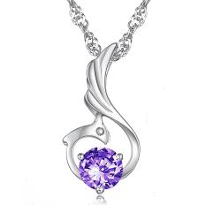 ZUNCLE Women's Fashion Diamond Pendant Phoenix Necklace (Purple)