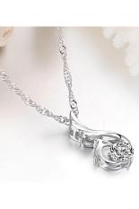 ZUNCLE Women's Fashion Diamond Pendant Phoenix Necklace (White)