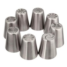 8pcs New Design Russian Tulip Icing Piping Nozzles Cake Decoration Tips DIY Tool - Intl