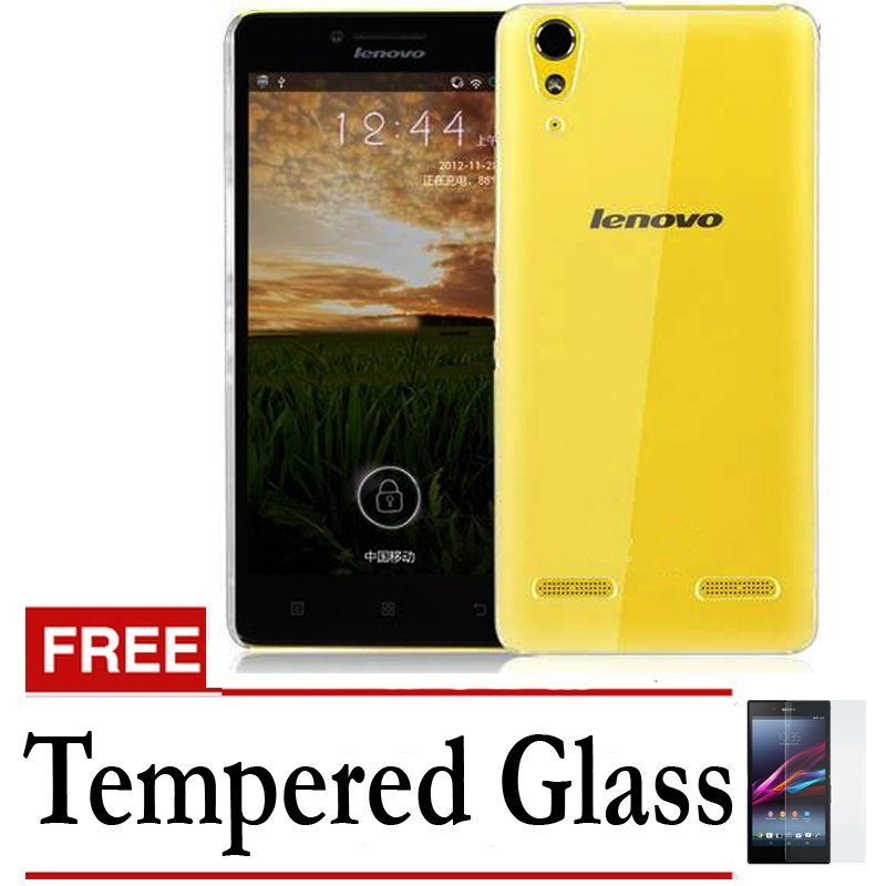 Accessories Hp Ultrathin Lenovo A6000 Aircase - Clear + Gratis Tempered Glass