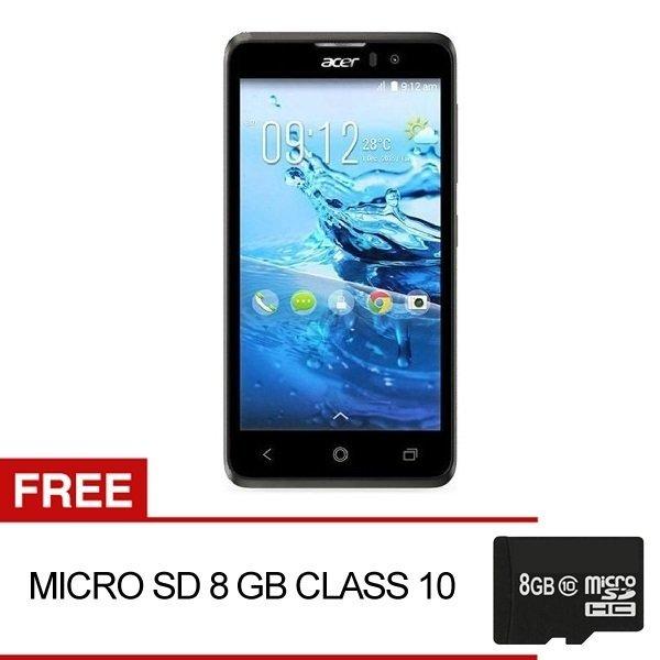 Acer Liquid Z520 Plus - 16GB - Hitam + Gratis Micro SD 8GB Class 10