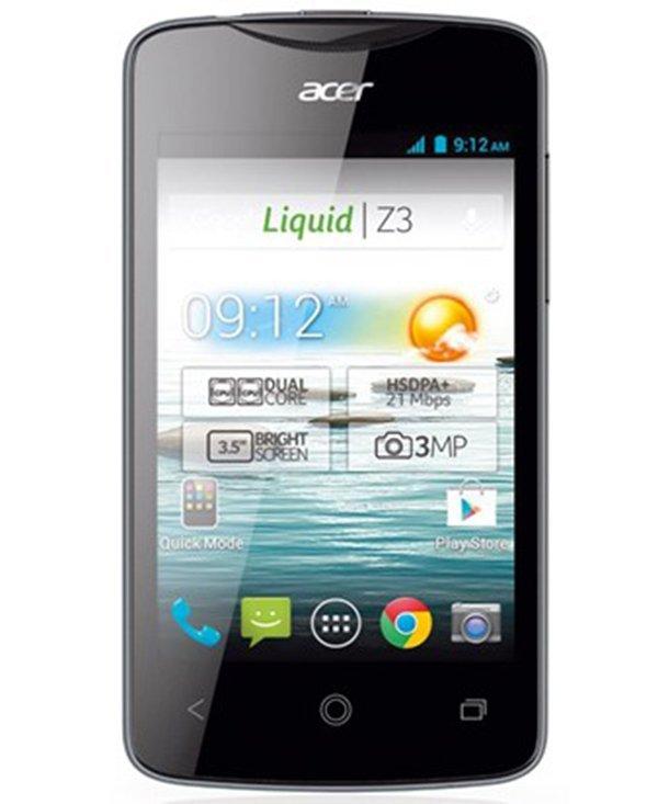 Acer Z130 Liquid Z3 Duos - Dual SIM - 4GB - Hitam