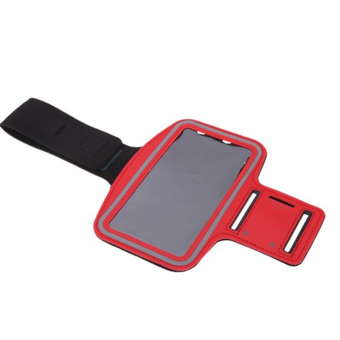 Adjustable Sport Gym Running Jogging Sweatproof Arm Band Case Cover Holder for iPhone 6 Plus Red