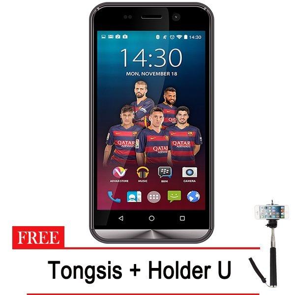 Advan Vandroid I45 4G LTE - 8GB - Abu-abu + Gratis Tongsis