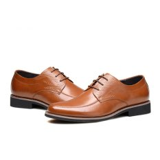 AFS JEEP Men Fashion Crocodile Grain Leather Business Formal Shoes (Brown) - Intl