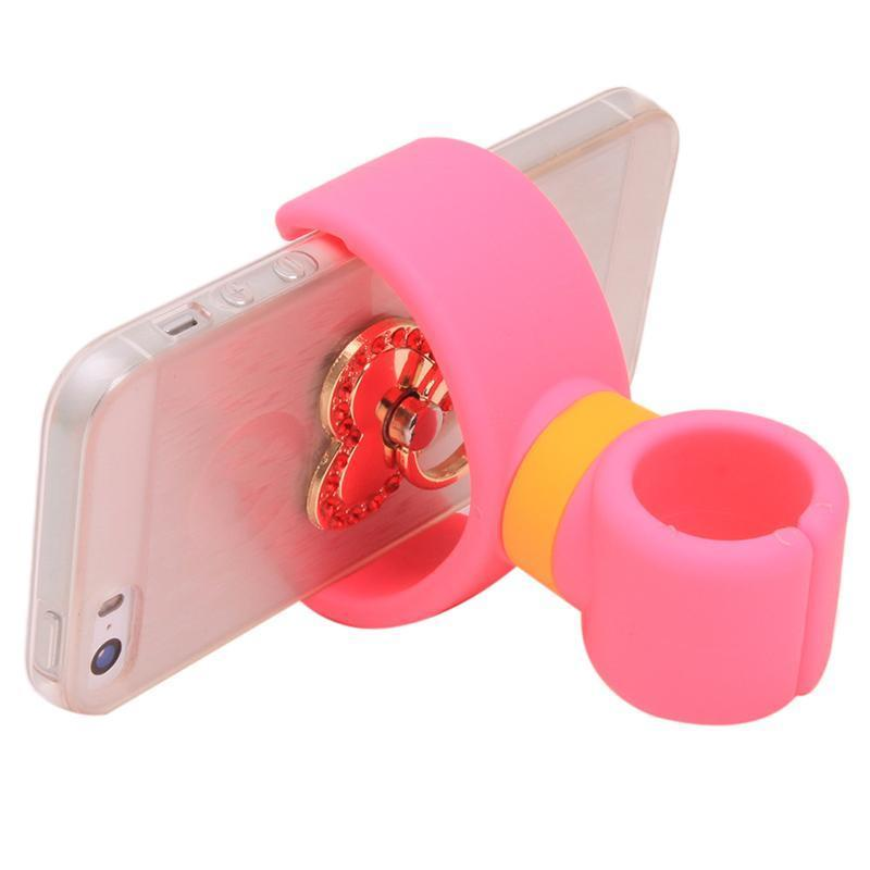 Ai Home Universal 360 Degrees Bicycle Car Cell Phone Holder Stand (Pink) (Intl)