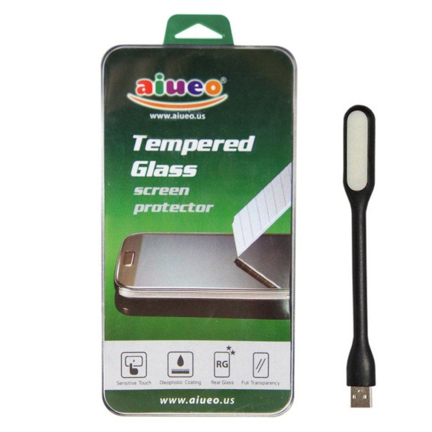 AIUEO - Lumia 1320 Tempered Glass Screen Protector Bundling Power Angel LED Portable Lamp