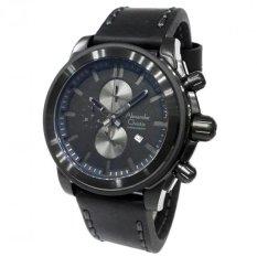 Alexandre Christie 6423 - AC 6423 - Full Black - Anti Air - Strap Leather - Jam Tangan Keren - Jam Tangan Original