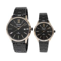 Alexandre Christie Classic Steel 8504LMDBBRBA Jam Tangan Couple - Black Rose Gold