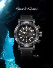 Alexandre Christie Diving 6413 Hitam - Jam Tangan Pria - Hitam