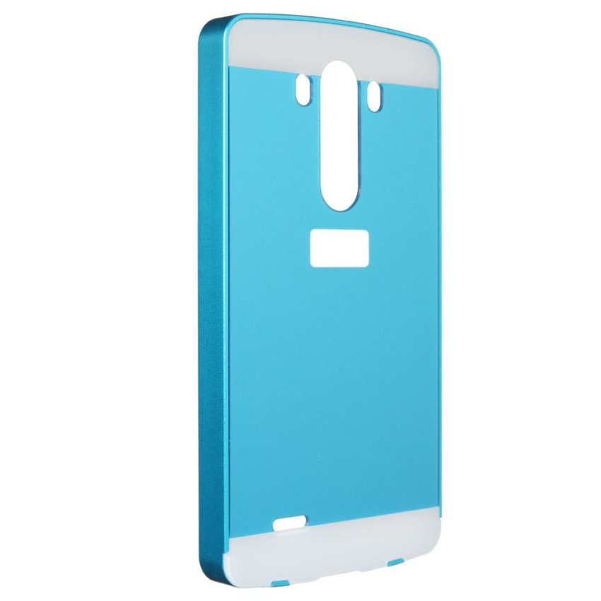 Alluminio Metallo Frame Bumper + Hard Custodia Cover Case for LG G3 D855 D850 (Blue) (Intl)