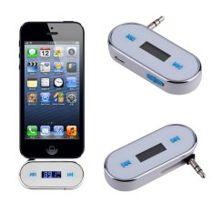 Allwin Mini Foldable FM Transmitter Car Kit Music FM For Cell Phones with USB Cable White (Intl)