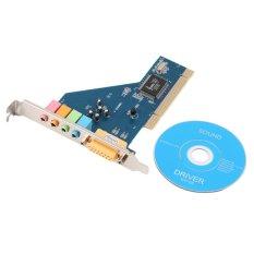 Allwin New 4 Channel 5.1 Surround 3D PCI Sound Audio Card for PC Windows XP/Vista/7 (Intl)