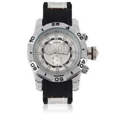 Allwin New Cool Fashon Men's Quartz Watch Large Dial Silicone Band Wristwatch