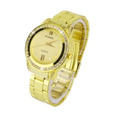 Allwin New PAIDU 58923 Round Quartz Analog Women Stainless Steel Band Wrist Watch Golden (Intl)