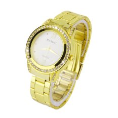 Allwin New PAIDU 58923 Round Quartz Analog Women Stainless Steel Band Wrist Watch White (Intl)