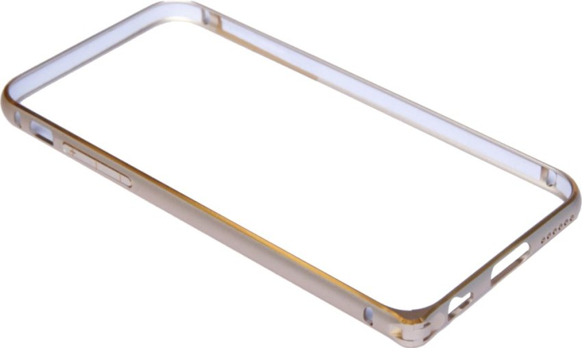 Aluminium Screwless External Bumper Case for Apple iPhone 6 Gold