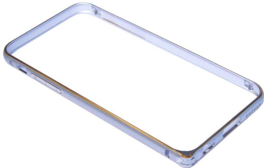 Aluminium Screwless External Bumper Case for Apple iPhone 6 Plus Silver/Gold