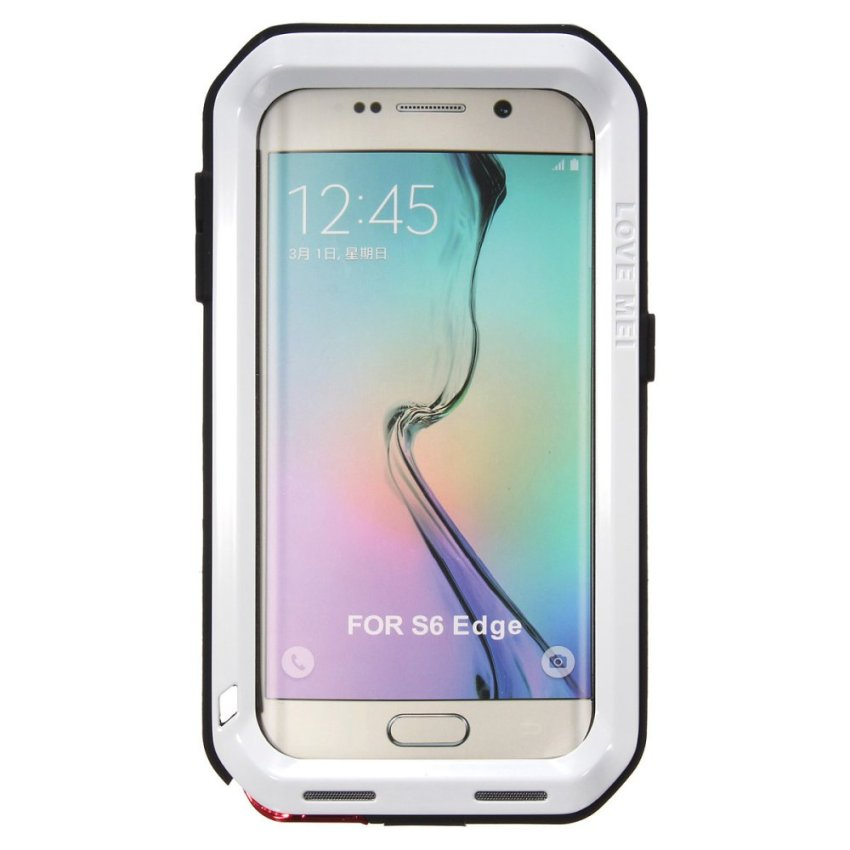 Aluminum Metal Water Proof Case for Samsung A3/A5/S5/S6/Edge/Plus (White) (Intl)