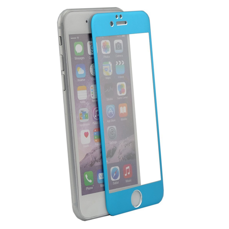 Amazingbox Screen Protector Film Full-Cover for iPhone 6 (Blue) (Intl)