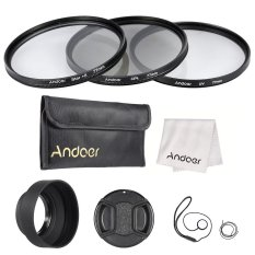 Andoer 77mm Lens Filter Kit (UV + CPL + Star + 8) With Lens Accessories - Intl