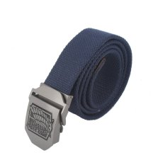 Anime Attack On Titan AOT Canvas Belt Stainless Steel Buckle (Blue) - Intl (Intl)