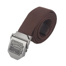 Anime Attack On Titan AOT Canvas Belt Stainless Steel Buckle (Coffee) - Intl (Intl)