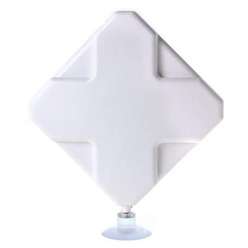 Antena Portable 35dBi modem 3G 4G LTE FDD TDD W-Max 435 Double Pigtail Untuk Modem Sierra 312u - Putih