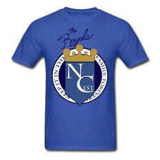 AOSEN FASHION Creative Men's Royalty Baseball T-Shirts Royal Blue