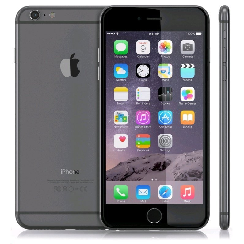 Apple iPhone 6 Plus - 64GB - Abu-abu