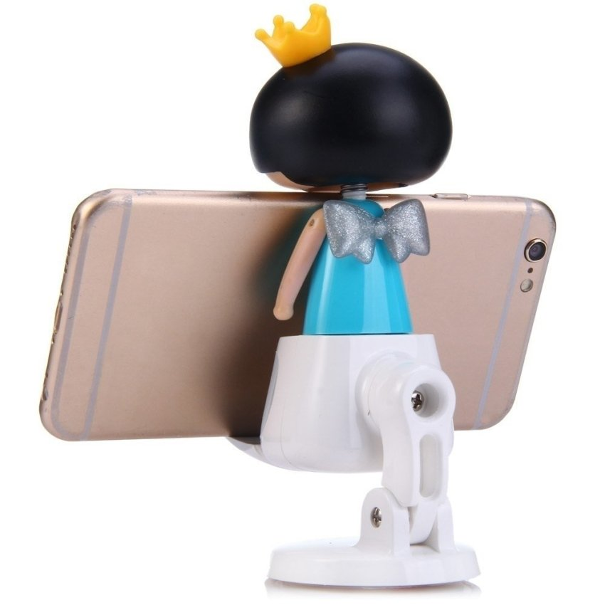 April Doll Car Holder with Rotation Design for 4.5 - 6.2 inch Phone GPS (Blue) (Intl)
