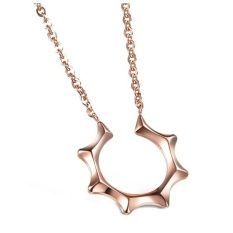 Arche The Sun Pendant Stainless Steel Necklace (Rose Gold)