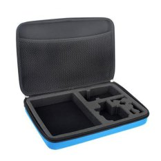 Asiawll Large Protective EVA Camera Storage Bag For GoPro HD Hero 3 + / Hero 3 / Hero 2 - Blue (Intl)