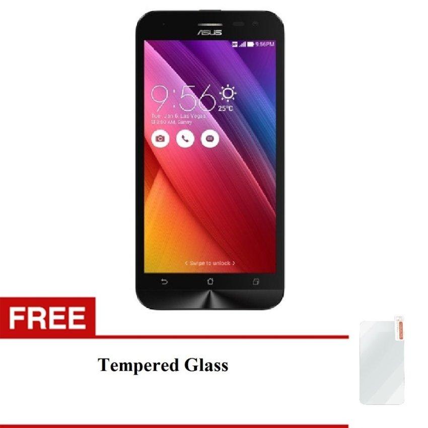 Asus Zenfone 2 ZE550 ML - ROM 16GB - RAM 2GB - Hitam + Bonus Tempered Glass