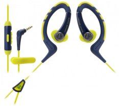 Audio-Technica ATH-Sport1iS Sporting Inner-Ear Headsets - Navy Yellow