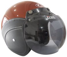 AVA Helmet – Korean Technology – Helm AVA Retro Fashion Bogo Leather - Cokelat Metalik