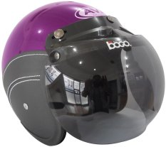 AVA Helmet – Korean Technology – Helm AVA Retro Fashion Bogo Leather - Ungu