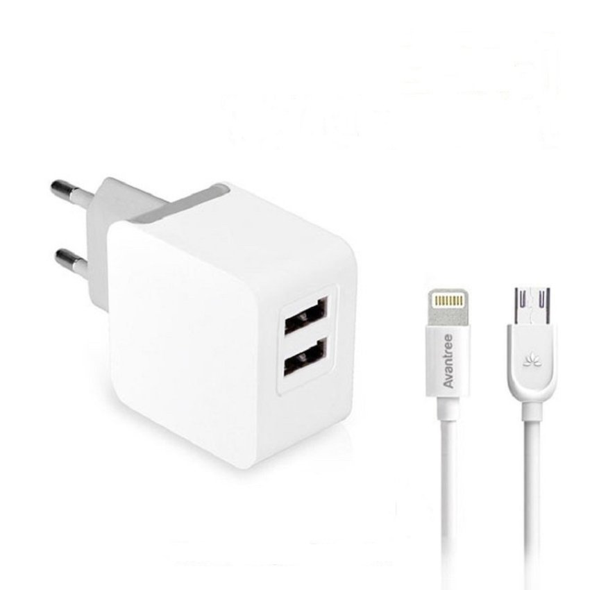 Avantree 3-in-1 Wall Charger kit CGST-20 3.1Amp - Putih