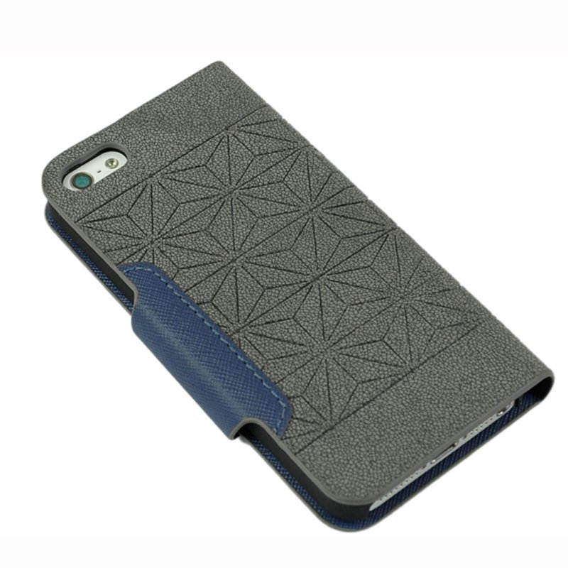 AZONE Leather Wallet Stand Case Cover Protector For iPhone 5 5s (Grey)