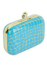 Azone New Fashion Women Synthetic Leather Chain Bag Handbags Evening Bag Clutch (Blue) - Intl