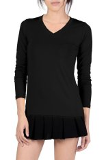 Azone V-Neck Fitted Plain T-Shirt (Black)