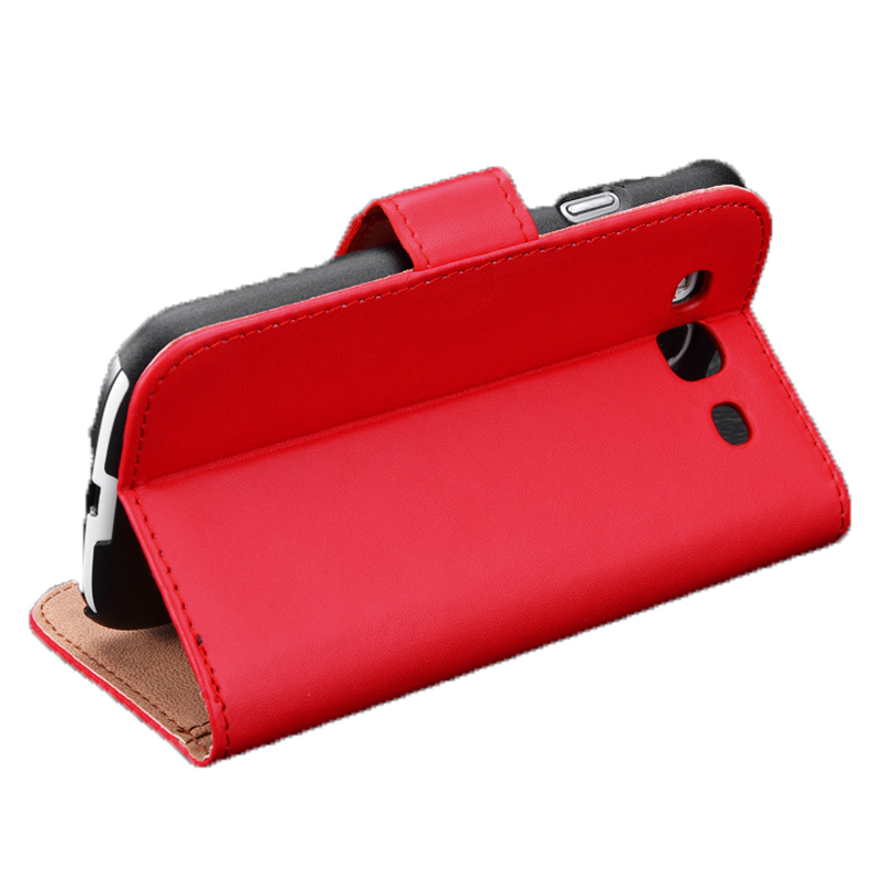 Azone Wallet Credit Card Holder Business Card Holder Flip Case Cover for Samsung (Red)