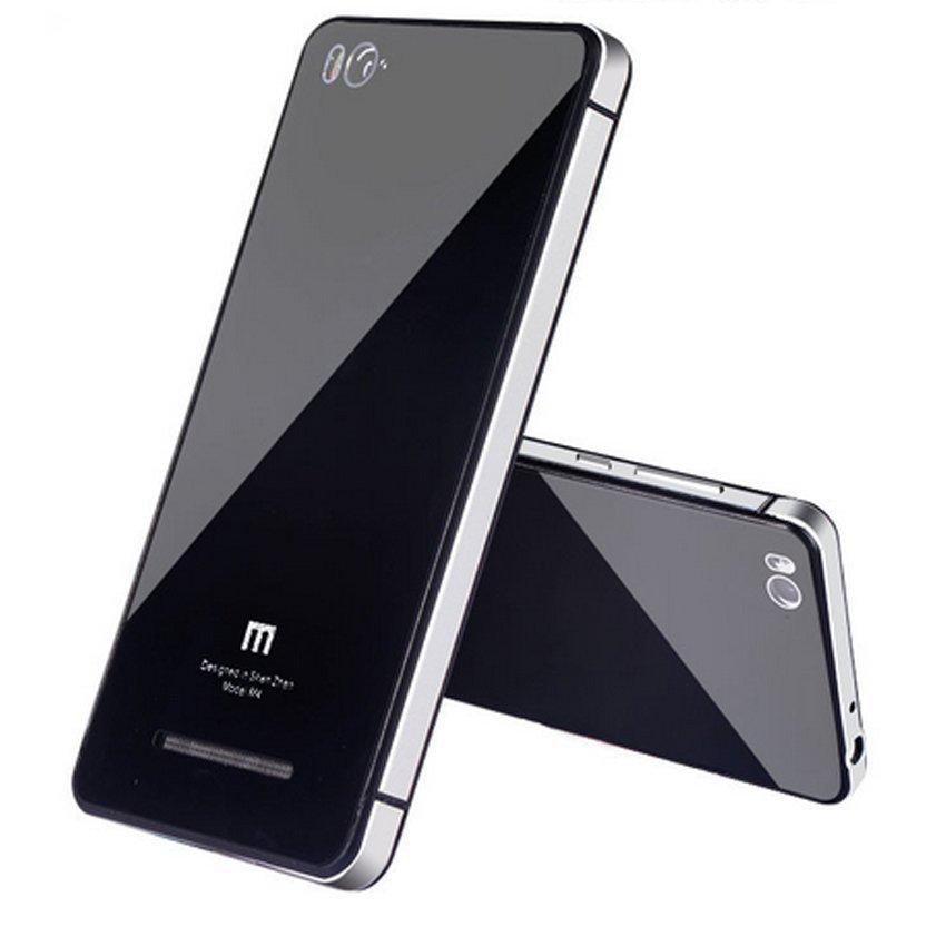 Back Case Tempered Glass Series For Xiaomi Mi 4i / Mi 4c Silver - Hitam