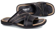 Baricco Brc 645 Sandal Casual Pria -Kulit Asli Keren - Black