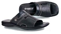 Baricco Brc 664 Sandal Casual Pria -Kulit Asli Keren - Black