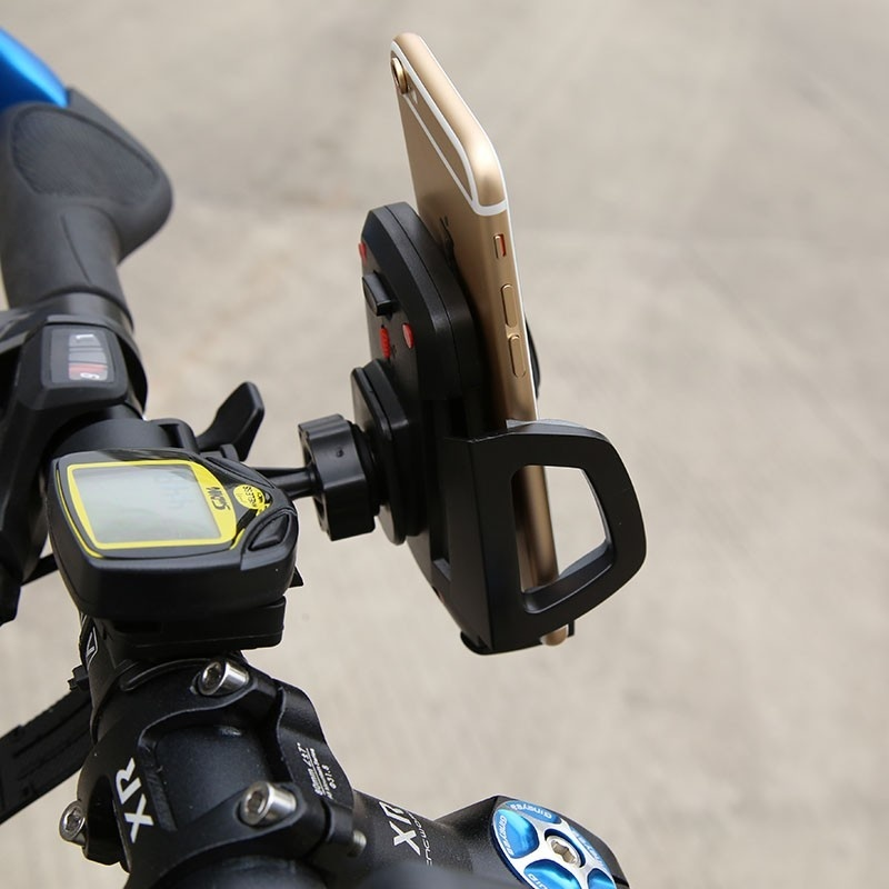 Baseus Wind Series Bicycle Holder for Smartphone / iPhone 4.3 - 7 Inch - Hitam