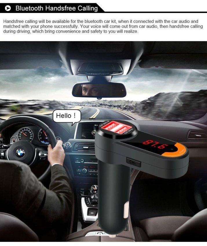 BC10 Universal Bluetooth Car Kit Mp3 Player Fm Transmitter Dual Usb Charger Led Display Handsfree Kit (Intl)